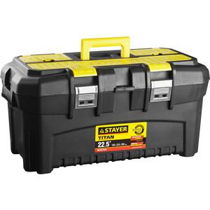 Ящик для инструментов Stayer Titan-22 пластиковый (38016-22) ящик stayer 2 38015 22 z01