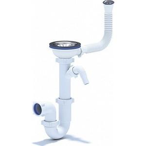 Сифон для кухонной мойки Florentina 3 1/2 (D90 мм) с переливом, штуцер (Выпуск 1)