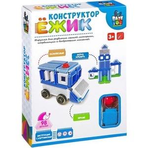 Конструктор Bondibon Ёжик, машина+станция, 98 деталей (ВВ2573 )