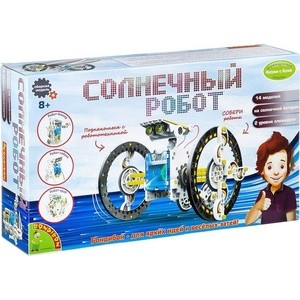 Конструктор Bondibon Науки с Буки, СОЛНЕЧНЫЙ РОБОТ 14 в 1 (ВВ2289 )