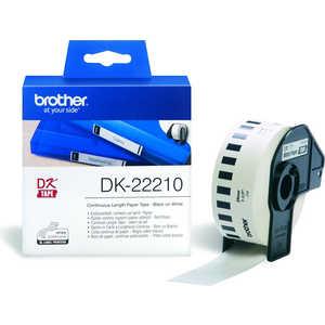 Лента Brother DK22210 kinbor кпк и pda бумажная лента 35mmx10m иллюстрации цвет канцелярские частная кухня dtb64027