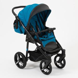 лучшая цена Коляска прогулочная Mr Sandman Traveler Premium синий - черный