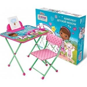 Набор мебели Nika Disney 1 Стол-Стул Доктор плюшева just play чемоданчик доктора доктор плюшева