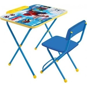 Набор мебели Nika Disney 2 Стол-Стул Человек-паук комплект ника умничка 2 стол стул пушистая азбука