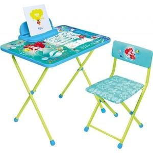 Набор мебели Nika Disney 4 Стол-Стул Русалочка набор мебели nika disney 2 золушка