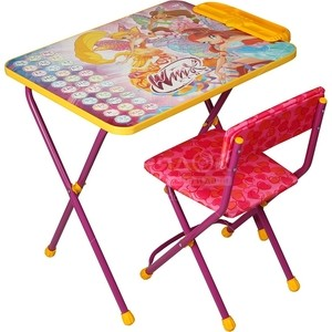 Набор мебели Nika Winx 2 Стол-Стул Азбука стул nika sport кс1 black