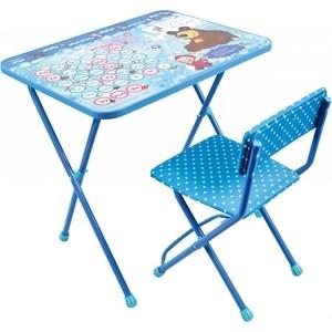 Набор мебели Nika Познайка 2 Стол-Стул Азбука 4 Маша и Медведь ника набор детской мебели познайка кп математика
