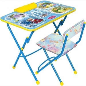 Набор мебели Nika Умничка 2 Стол-Стул Волшебный мир принцесс