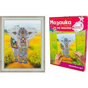 Мозаика Волшебная мастерская Слон (на холсте) (МХ-03) декор ковка на холсте um