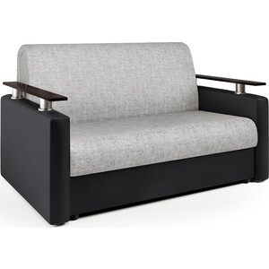 Диван аккордеон Шарм-Дизайн Шарм 120 черный серый