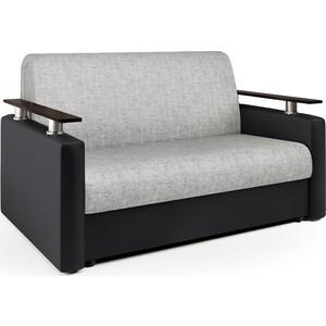 Диван аккордеон Шарм-Дизайн Шарм 140 черный серый