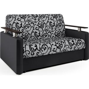 Диван аккордеон Шарм-Дизайн Шарм 140 черный узоры