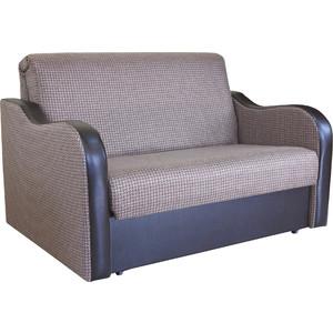 Диван аккордеон Шарм-Дизайн Коломбо 140 рогожка коричневый кресло кровать шарм дизайн коломбо рогожка коричневый