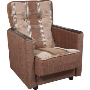Кресло Шарм-Дизайн Классика Д шенилл светло-коричневый цена и фото