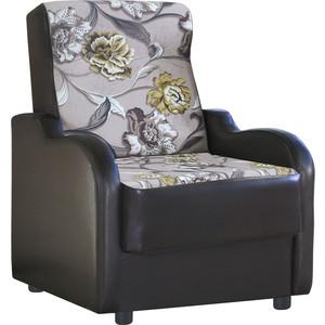 Кресло Шарм-Дизайн Классика В велюр цветы