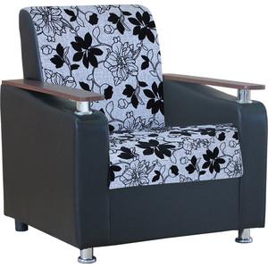 Кресло Шарм-Дизайн Мелодия ДП №1 шенилл серый цветы дверца поддувальная балезино дп 1