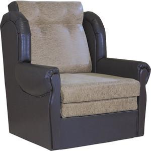 Кресло кровать Шарм-Дизайн Классика М замша коричневый