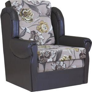 Кресло кровать Шарм-Дизайн Классика М велюр цветы