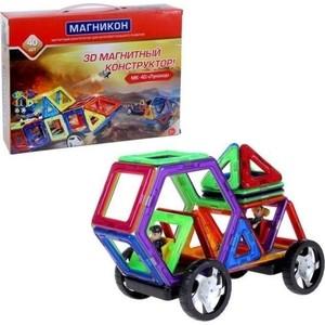 Конструктор магнитный Магникон Луноход (МК-40) магнитный конструктор магникон треугольники 8 элементов mk 8