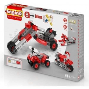 Конструктор пластиковый Engino PICO BUILDS/INVENTOR Мотоциклы 8 моделей (PB22(0832))