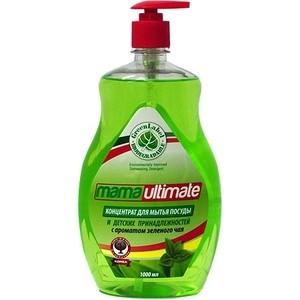 Концентрат для мытья посуды Mama Ultimate Зелёный чай, бутылка, 1 л