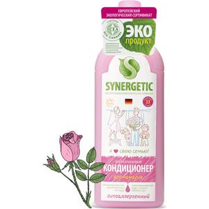 Кондиционер для белья Synergetic гипоаллергенный с антистатическим эффектом, 1 л бытовая химия synergetic кондиционер для белья райский сад 1 л