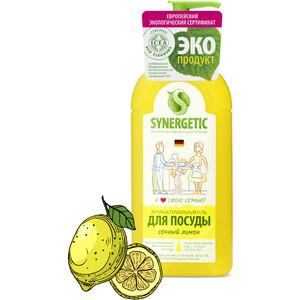 Средство для мытья посуды и фруктов Synergetic Лимон, концентрированное, 500 мл средство для посуды aro лимон