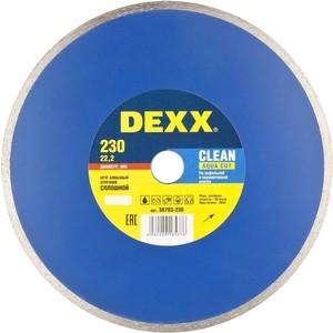 Алмазный диск DEXX сплошной для УШМ 230х22,2 мм (36703-230)