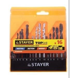 Фото - Набор свeрл комбинированный Stayer 16 предметов Standard (29720-H16) кисть stayer universal standard 0101 025