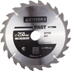 Диск пильный Stayer Fast-Line 250х30 мм 24Т (3680-250-30-24)