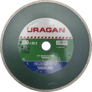 Диск алмазный Uragan сплошной 22,2х230 мм (36695-230)