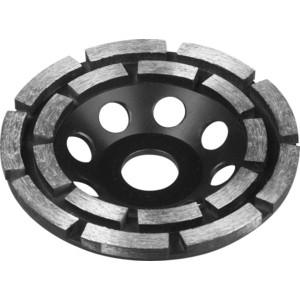 Чашка алмазная шлифовальная Зубр сегментная двухрядная, высота 22,2 мм 115 (33372-115)