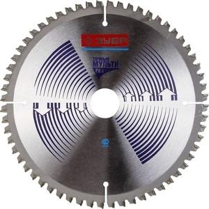 Диск пильный Зубр Точный-Мульти рез усиленный 190х20 мм 60Т (36907-190-20-60) диск пильный зубр 190х30 мм 24т 36850 190 30 24