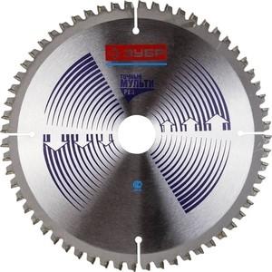 Диск пильный Зубр Точный-Мульти рез усиленный 190х30 мм 60Т (36907-190-30-60) диск пильный зубр 190х30 мм 24т 36850 190 30 24