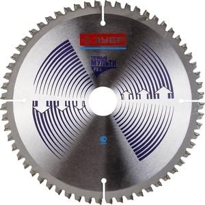 Диск пильный Зубр Точный-Мульти рез усиленный 200х30 мм 60Т (36907-200-30-60)
