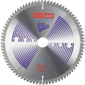 Диск пильный Зубр Точный-Мульти рез усиленный 255х30 мм 80Т (36907-255-30-80)