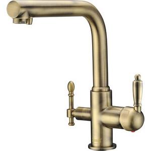 Смеситель для кухни ZorG GraniT под фильтр Clean Water кварц (ZR 313 YF-33 BR) цены