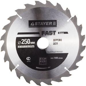 Диск пильный Stayer Opti-Line 250х30мм 40Т (3681-250-30-40)