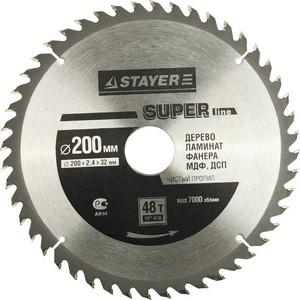 Диск пильный Stayer Super-Line 200х32мм 48Т (3682-200-32-48)