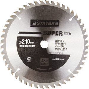 Диск пильный Stayer Super-Line 210х30мм 48Т (3682-210-30-48)