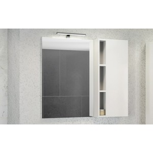 Зеркало-шкаф Comforty Милан 90 белый глянец (4137130)