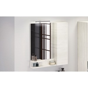 Зеркало-шкаф Comforty Верона 75 дуб белый (4137100)