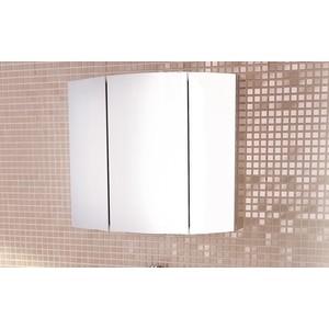 Зеркальный шкаф Comforty Лаура 75-3 белый глянец (3121083)