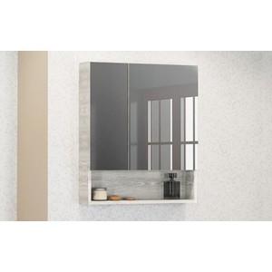 Зеркальный шкаф Comforty Никосия 60 дуб белый (4138878)