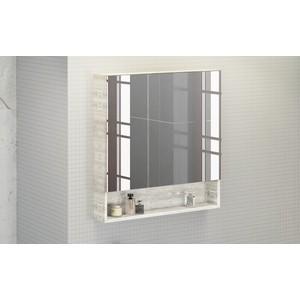 Зеркальный шкаф Comforty Никосия 80 дуб белый (4138838)