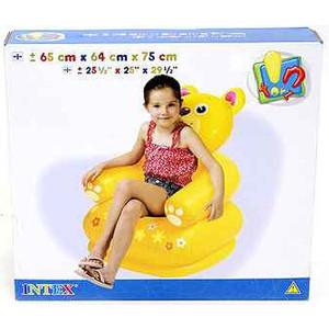 Надувное кресло Intex happy animal 3 вида 65*64*74см 3-8лет И68556