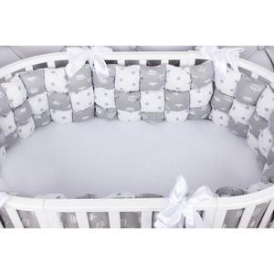 Борт в кроватку AmaroBaby Бонбон 6 предметов (6 подушек-бортиков) Royal care (бязь, серый)