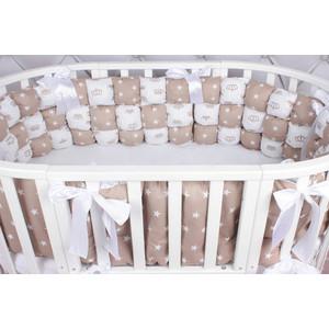 Борт в кроватку AmaroBaby 6 предметов (6 подушек-бортиков) Бонбон Royal care (бязь, коричневый)