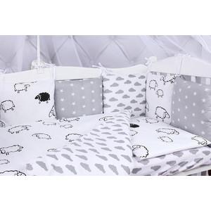 Комплект в кроватку AmaroBaby 15 предметов (3+12 подушек-бортиков) GOOD NIGHT (поплин/бязь)