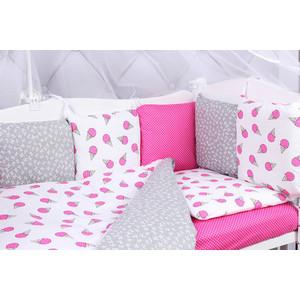 Комплект в кроватку AmaroBaby 15 предметов (3+12 подушек-бортиков) SWEET (бязь) комплект в овальную кроватку sweet baby aria 419059 бежевый 5 предметов